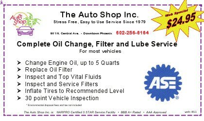 Oil change coupons phoenix az