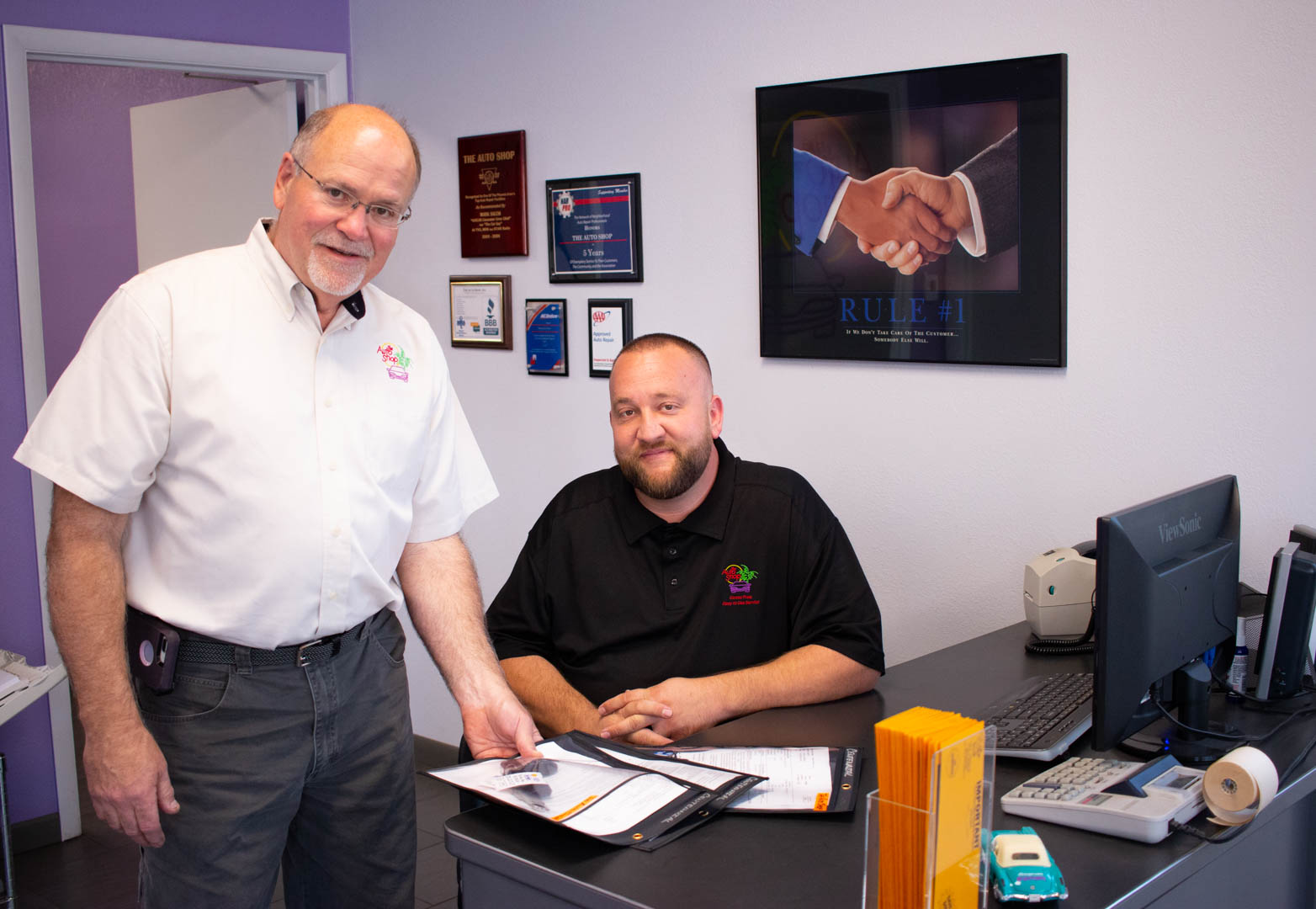 The Auto Shop owner Dan Dumbauld and General Manager Mickey Hermes in Phoenix