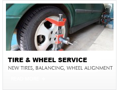 wheel alignments, new tires, tire rotation